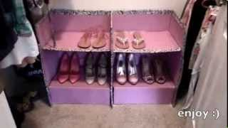 Diy How To Make A Shoe Holder / Cardboard Box Diy