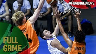 Greece v Netherlands - Live - Final - FIBA U16 European Championship 2017 - DIV B