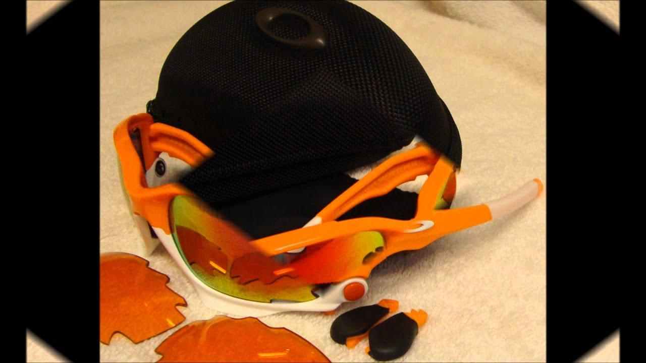 Oakley Jawbone Men s Sport Racewear SunglassesEyewear - Color Atomic  OrangeFire Iridium Vented.wmv fc97f46a726a