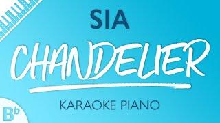 Chandelier (LOWER Piano Karaoke) Sia