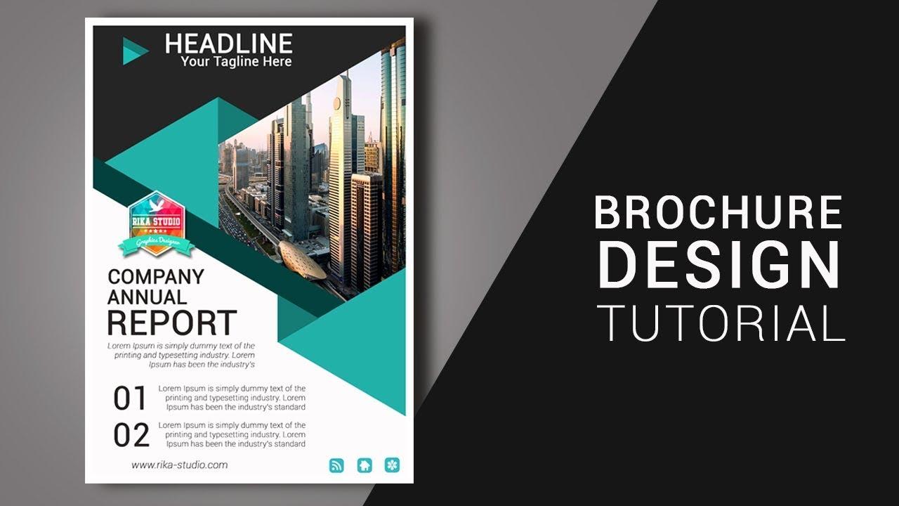 Cara Membuat Brosur Di Photoshop Business Brochure Design Youtube