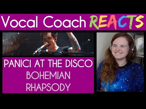 Vocal Coach reacts to Panic! At the Disco (Brendon Urie) singing Bohemian Rhapsody Mp3