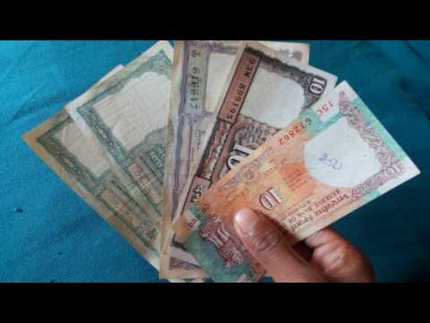 Indian Old Note 5 Rupees and 10 Rupees