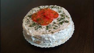 Торт из КАБАЧКОВ с грибами и помидорами