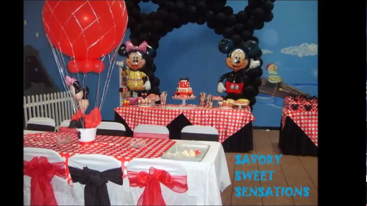 Mickey Mouse Cake And Table Setting Youtube