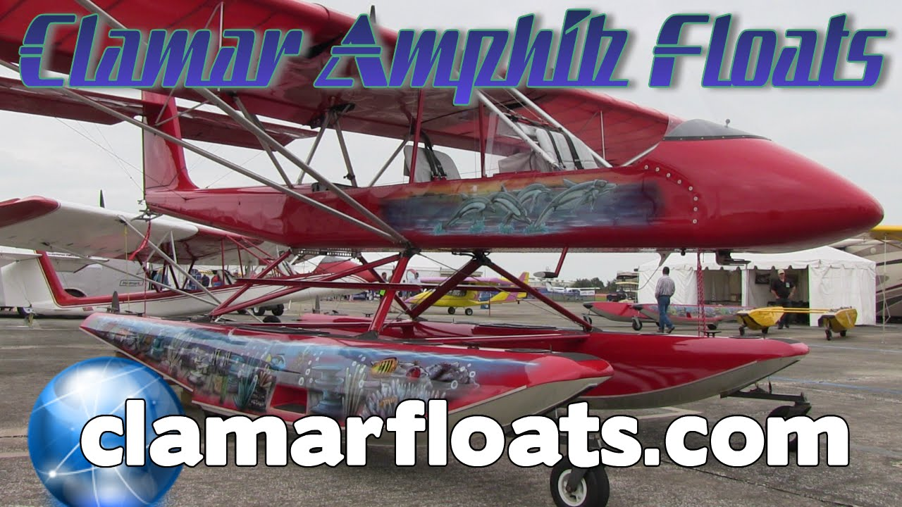 CLAMAR amphibious floats, composite amphib floats for light sport and  experimental aircraft