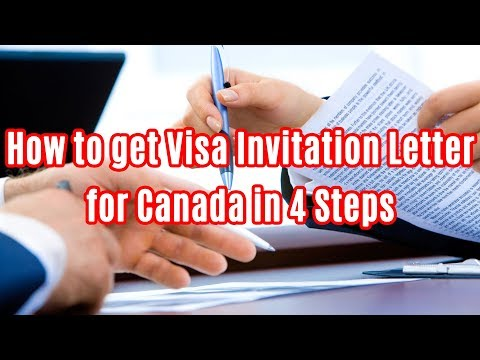 HOW TO GET VISA INVITATION LETTER FOR CANADA IN 4 STEPS