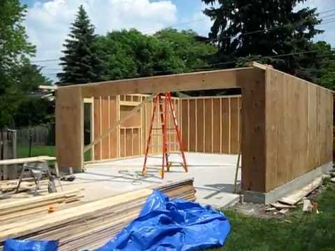 garage construction youtube. Black Bedroom Furniture Sets. Home Design Ideas