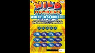 $5 - WILD NUMBERS - WIN! Lottery Bengal Scratch Off instant tickets NEWER TICKET WIN!