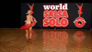 World Salsa Solo 2015 - Pro Female Salsa Soloist - Kristi Hall - Latin Dance Sensation