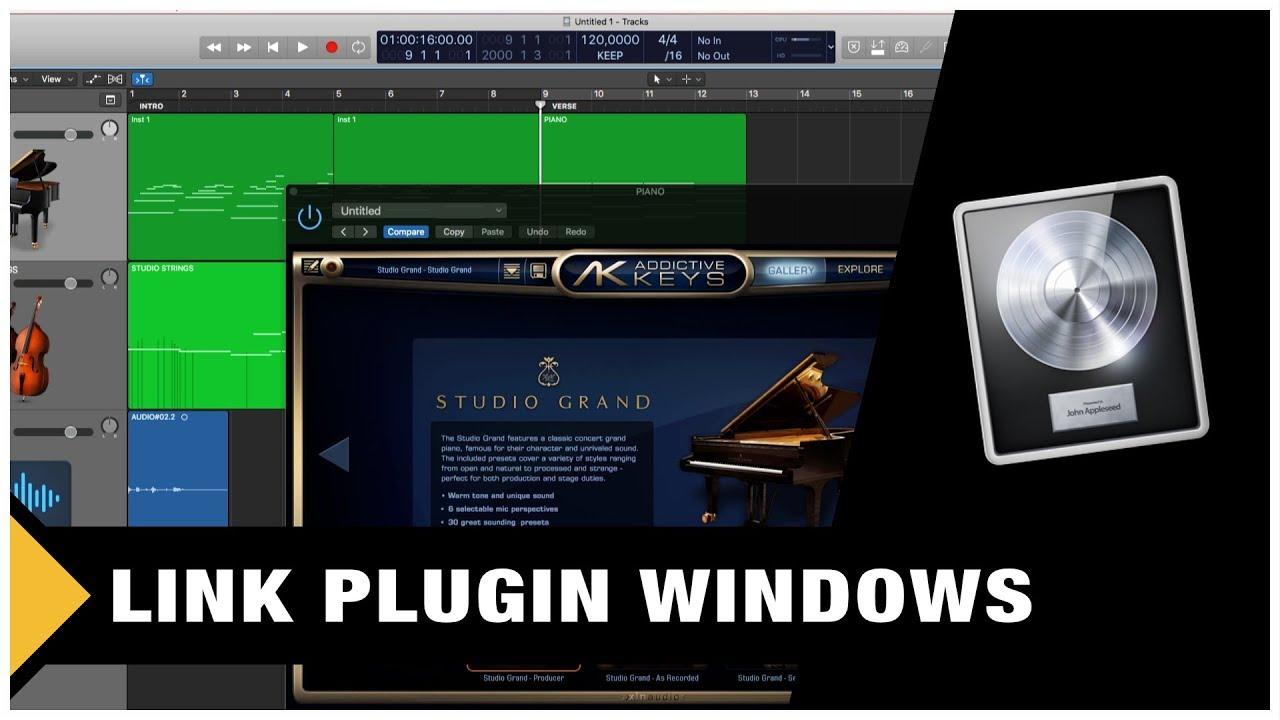 Logic Pro X Tutorial - Link Plugin Windows (workflow trick)