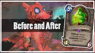 Hearthstone: Before and After Carnivorous Cube
