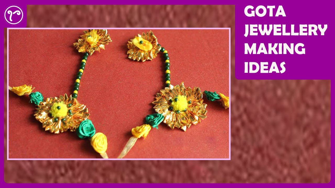 HOW TO MAKE GOTA JEWELRY FOR HAND/HAND HARNESS