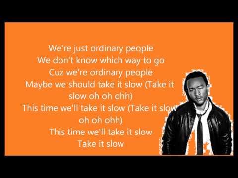 Ordinary People - John Legend (Lyrics on screen)