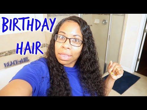 Birthday Hair  360 Lace Deep Wave Frontal Wig  Perfectlacewig