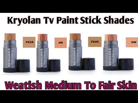 Kryolan Tv Paint Stick Shades For Medium To Fair Skin Kryolan Tv Paint Stick Review Kryolanmakeup Youtube
