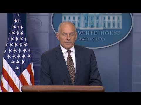 White House press briefing with President Donald Trump's chi