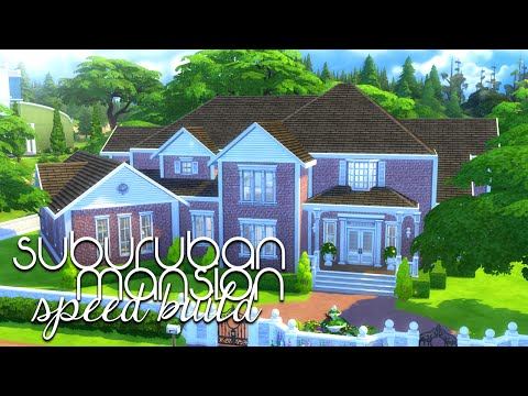 SUBURBAN MANSION // The Sims 4: Speed Build