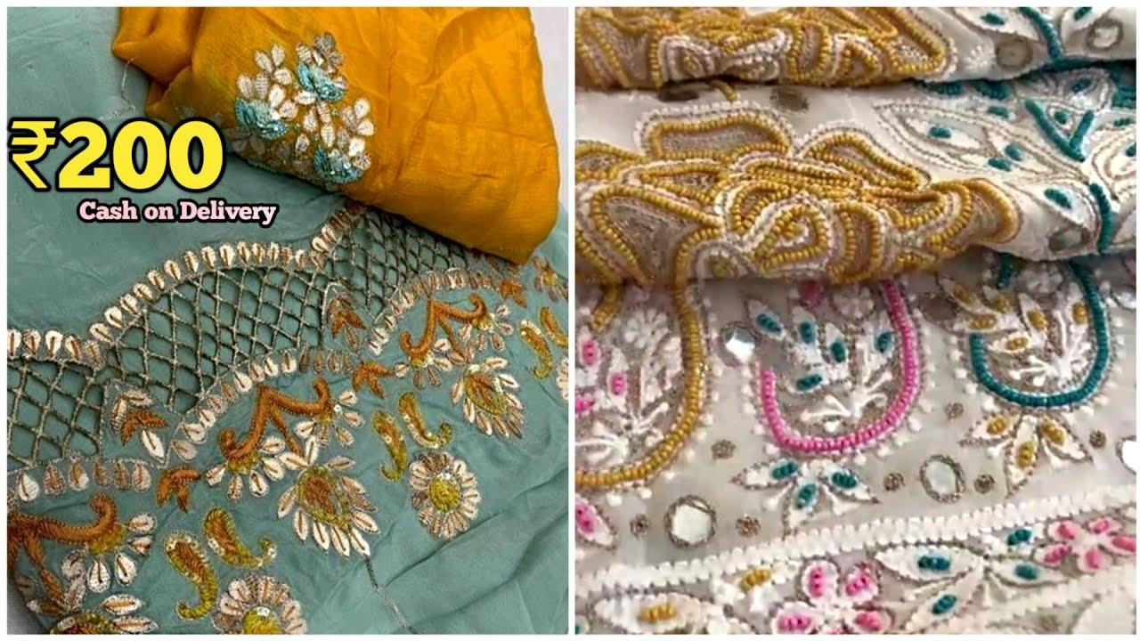 अब ऐसे Design कहाँ मिलेंगे इस रेट में  Boutique Suit , Ladies Suit Wholesale Market Sai Dhara