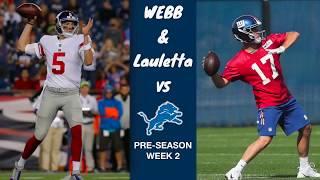Davis Webb & Kyle Lauletta Full Highlights vs Lions (Preseason Week 2)