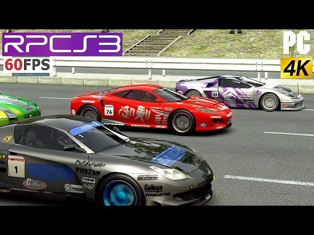 PS3 Ridge Racer 7 4k on PC 60fps RPCS3 Emulator RR7