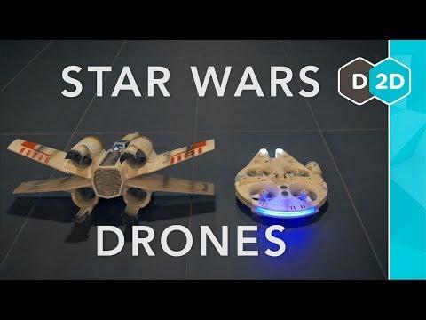 Millennium Falcon vs. X-Wing - Star Wars Drones Review