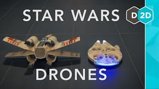 Millennium Falcon vs. X-Wing - Star Wars Drones Review