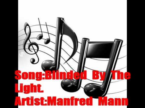 manfred mann,blinded by the light with lyrics