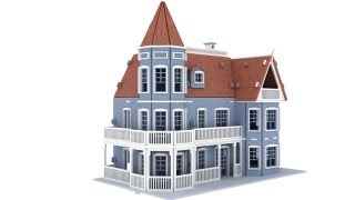 Laurel Town Home Doll House Cnc Router Laser Scrollsaw Pattern
