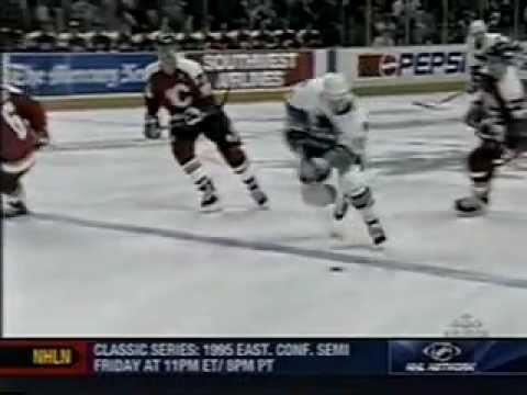 1995 NHL WCQF Series - San Jose Sharks v Calgary Flames - Part 2 of 3