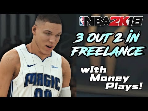 "NBA 2K18 - Using ""3 Out 2 In"" Freelance To Win Online!"
