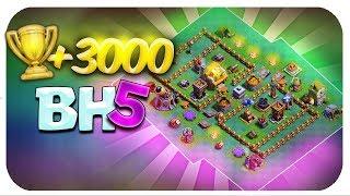¡EL MEJOR DISEÑO DE BH5 para llegar a las 3000 COPAS! ¡Taller de Constructor 5 Clash of Clans!