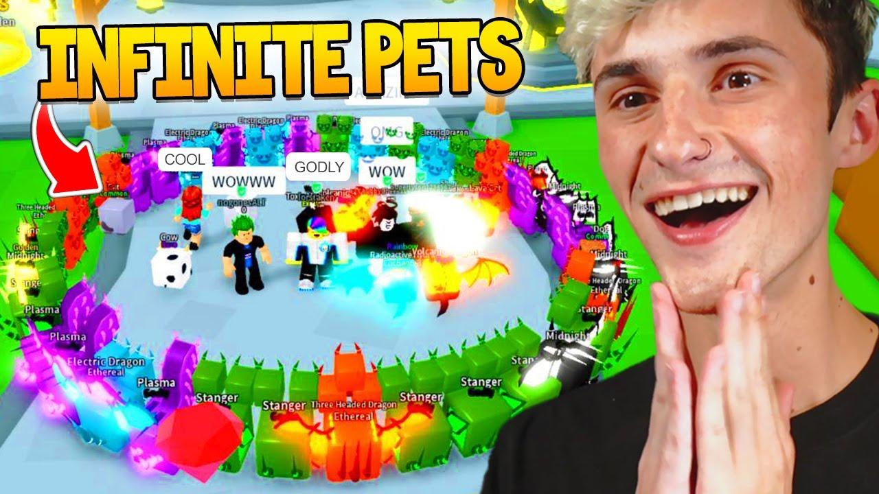 I got 100 OCTILLION Clicks with my INFINITE Pets.. (Roblox)