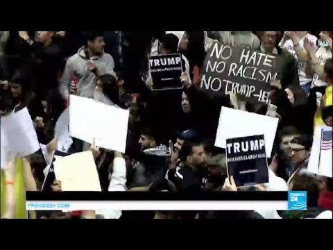 US presidential race: Protests turn violent outside Trump rally in New Mexico