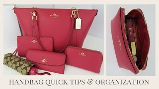 Handbag Quick Tips & Organization PLUS HUGE Coach Giveaway