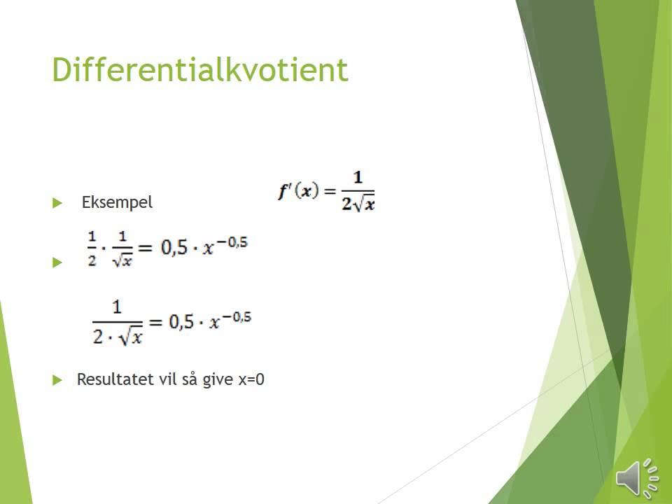 Differentialregning   Power point