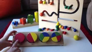 Toy Showcase 1: Fractions Tray, Number Stair & Maze Board
