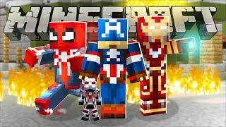 MONSTER ISLAND *THE AVENGERS MOVIE SUPERHERO MOD* - Modded Minecraft Minigame