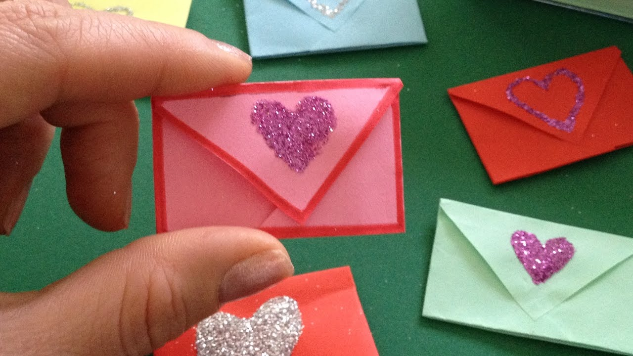 diy origami miniatur envelope gift ideas mother 39 s day father 39 s day mini geschenk zum vatertag. Black Bedroom Furniture Sets. Home Design Ideas