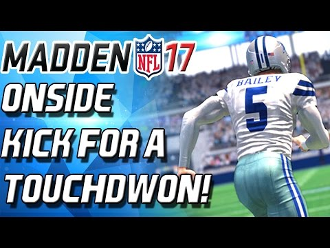 Onside Kick Gone Wrong For A Touchdown Madden 17 Ultimate