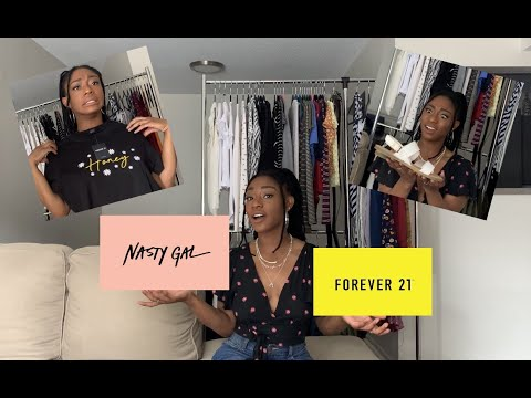 Nasty Gal + Forever 21 Haul/Try On!!