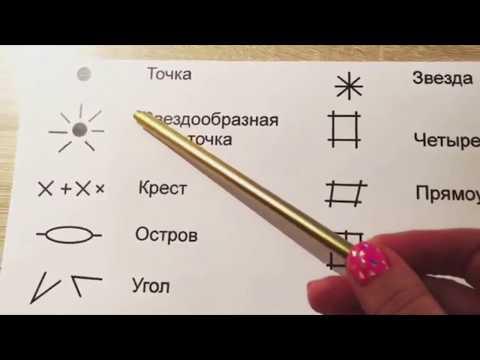 Знаки на ладони: точка, круг, квадрат. Хиромантия