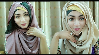 Classy Hijab Style with Covering chest | Pari ZaaD ❤