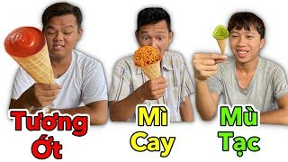 LamTV - Ice Cream Battle With Everything | Eat Ice Cream under SMALL and BIGGER