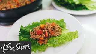 Asian Pork Lettuce Wraps | Super Fast Recipe