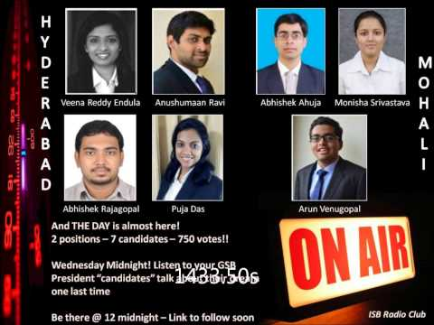 ISB Radio - Question time with the GSB Presidential Candidates co2015  29-05-2014