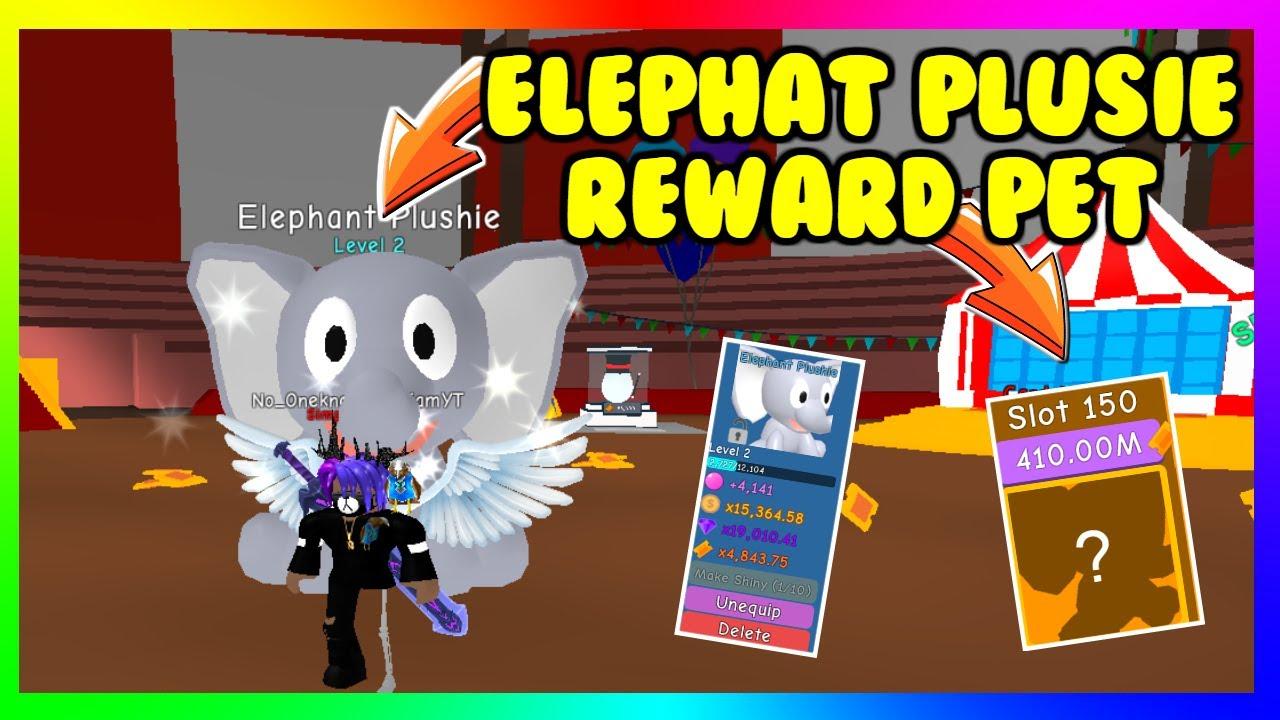 I Got The New Reward Pet Elephant Plushie Bubble Sim