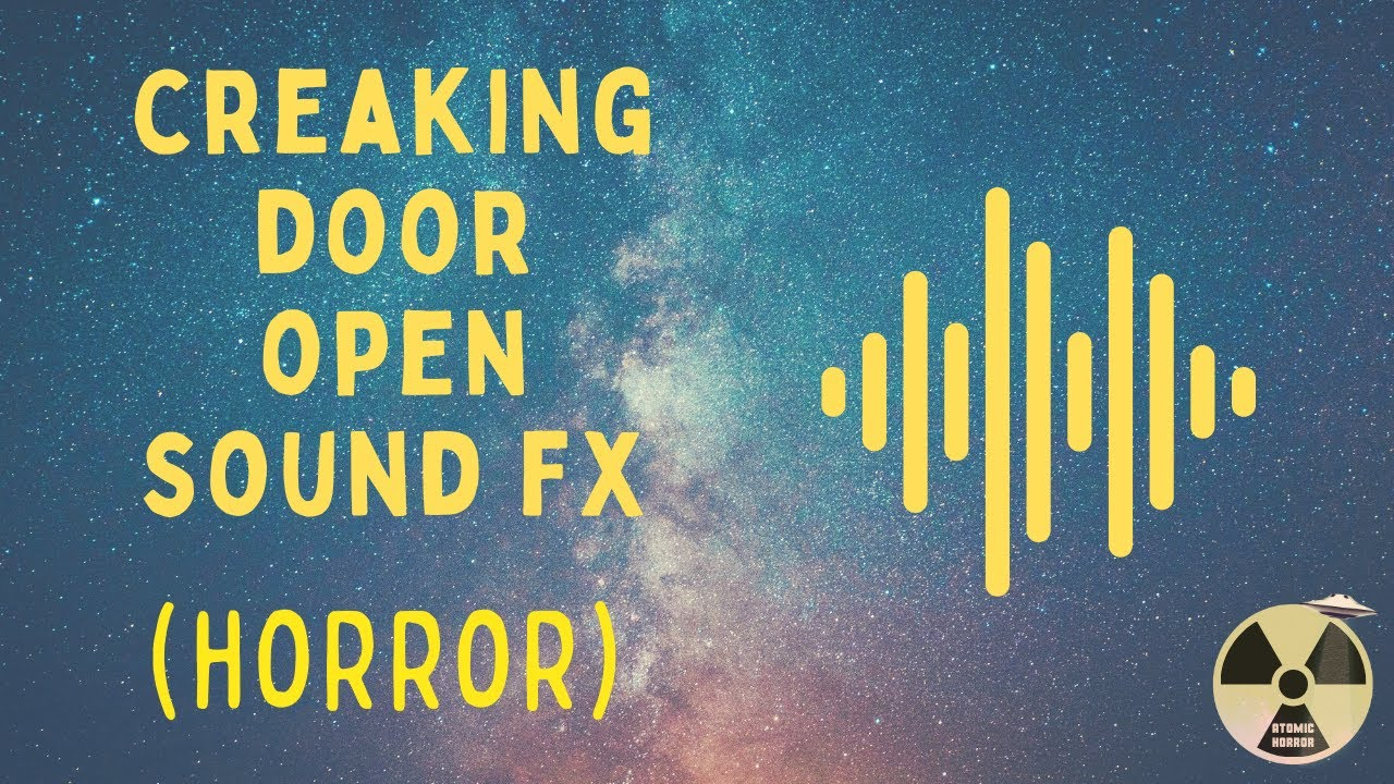 Horror sound effect creaking door open youtube for Door opening sound effect