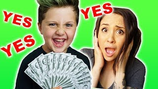 Parents Can't Say NO! Kids In Charge for 24 Hours! Family Challenge