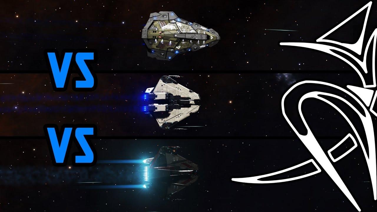 Python vs Krait mk2 vs Krait Phantom [Elite Dangerous]
